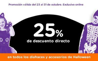 Halloween en ToysArus: 25% de descuento en disfraces y accesorios