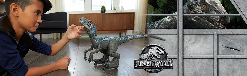 Alpha Training Blue: entrena al robot de Blue, el velociraptor de Jurassic World