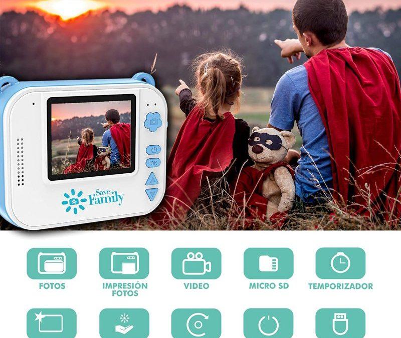 SaveFamilyCam Print, cámara de fotos instantánea (tipo Polaroid) y digital para niños